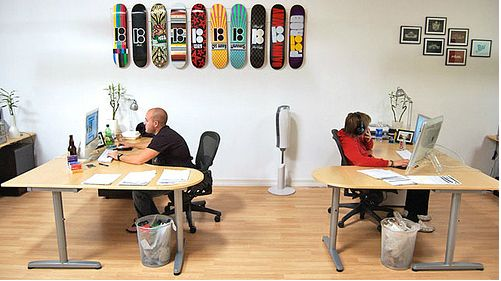 Skateboards on the wall
