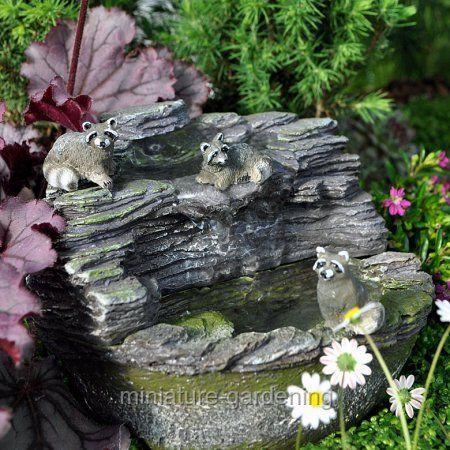 Georgetown Home U0026 Garden Miniature Fairy Garden Water Fountain Shale With  Pump