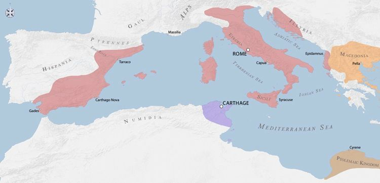 011-BEGINNINGS-(753BC TO 27BC)-AUGUSTUS: Map of Roman empire in c ...