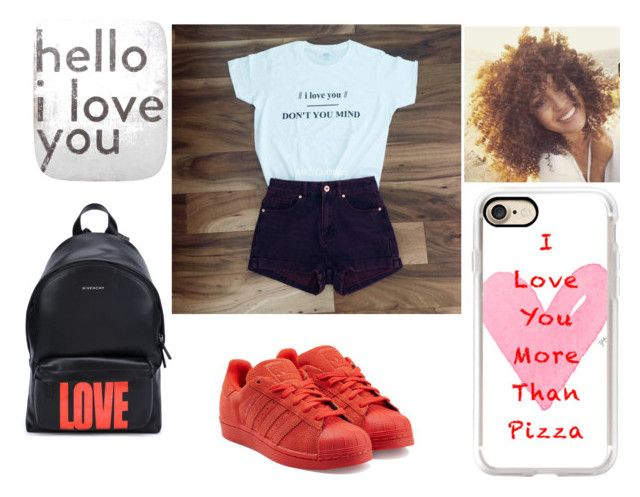 """I Love YOU"" by elizabetta-i ❤ liked on Polyvore featuring Sugarboo Designs, Casetify, adidas Originals and Givenchy"