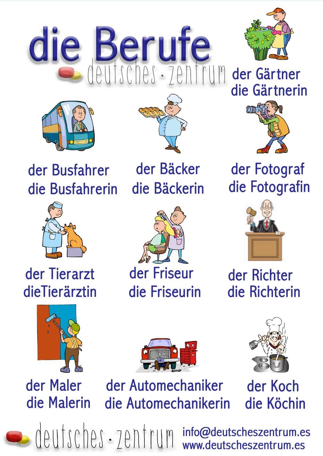 Arbeitsblatt Berufe Und Arbeit A1 : Berufe deutsch wortschatz grammatik