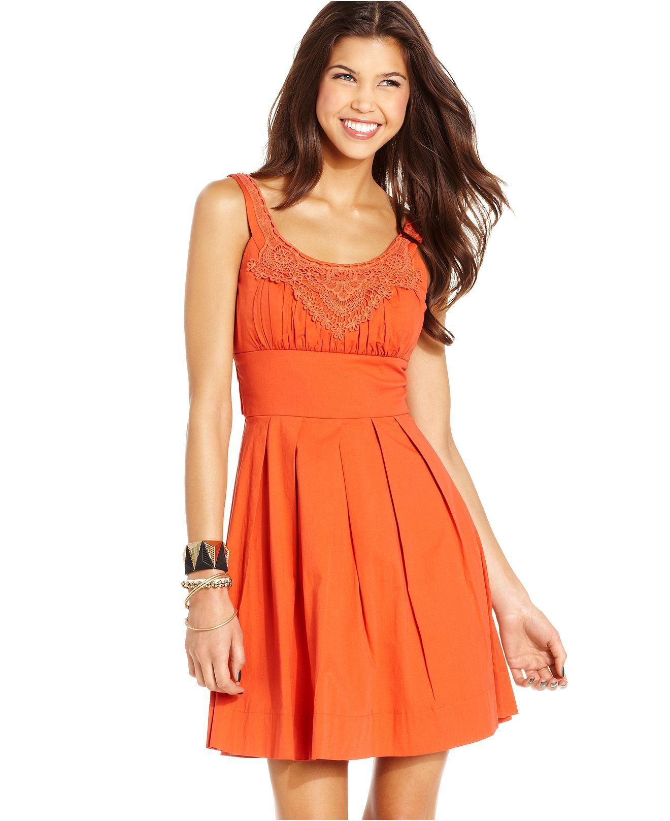 Trixxi Juniors Dress Sleeveless Pleated Crochet Knit Juniors Dresses Macy S Junior Dresses Trixxi Dress Review Dresses [ 1616 x 1320 Pixel ]