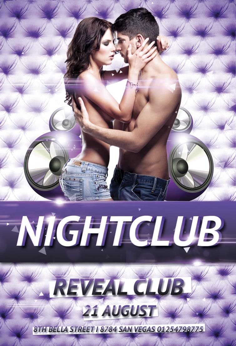 Free Nightclub Party Psd Flyer Template  Flyer    Psd