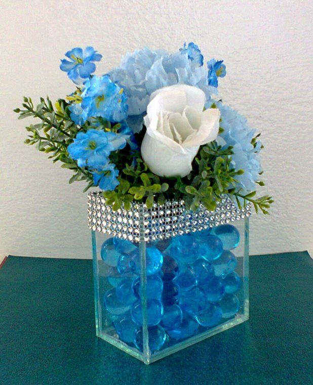 Arranjinhos Azul Tiffany Arranjos De Flores Artificiais