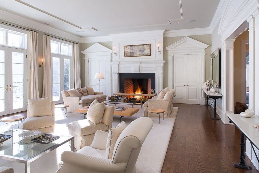 Best 101 Beautiful Living Rooms With Fireplaces Of All Types 400 x 300
