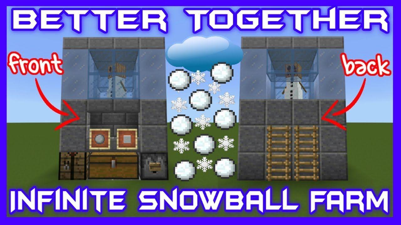 Infinite Snowball Farm Bedrock Edition https//www.youtube