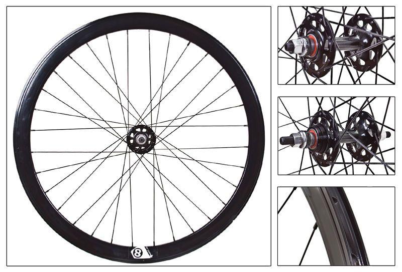 Origina 8 Track Wheelset Black 32 Hole 42mm Deep Rims Double