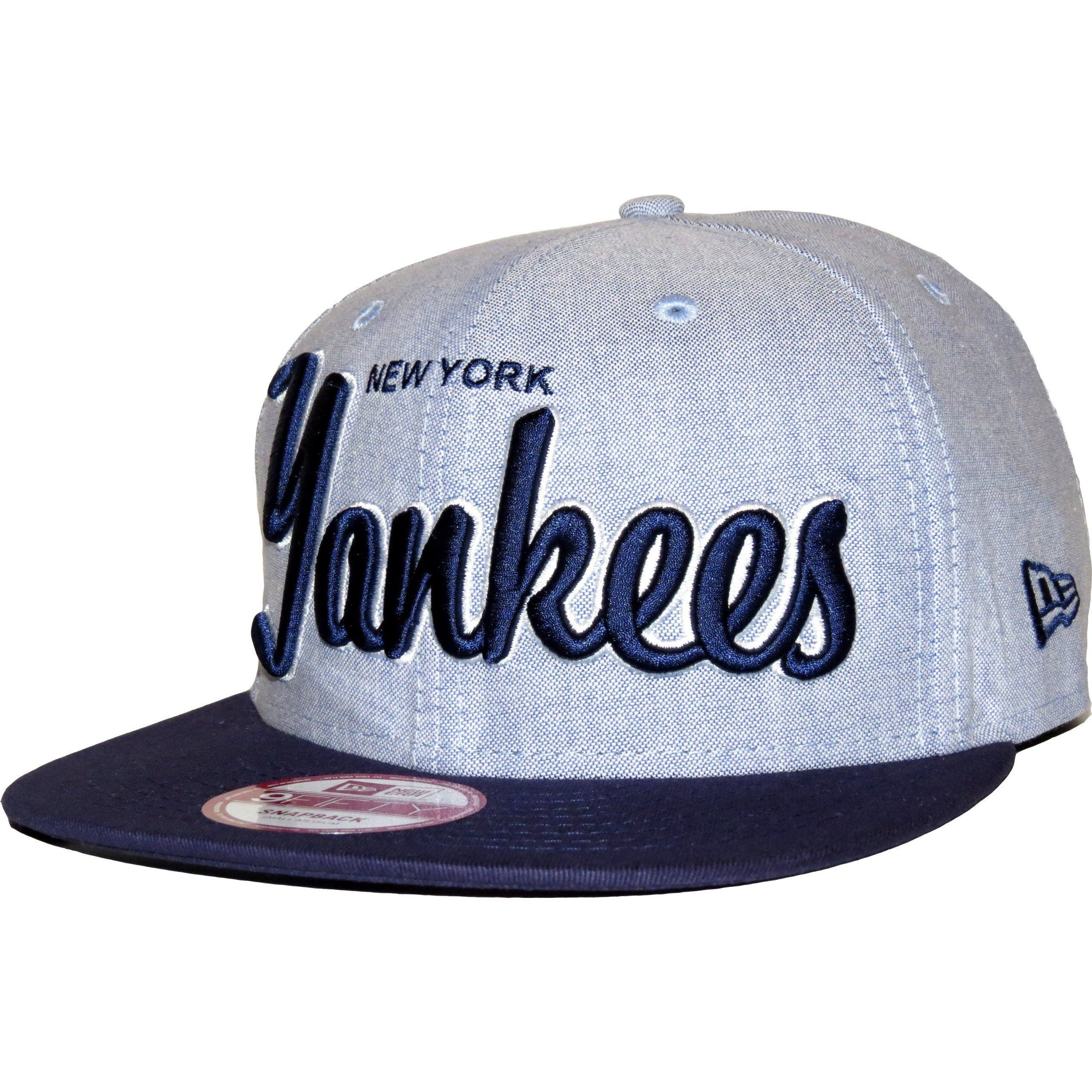 dbf2009cf9d21 New Era 9Fifty Retro Scholar NY Yankees Blue Snapback Cap   New Era ...