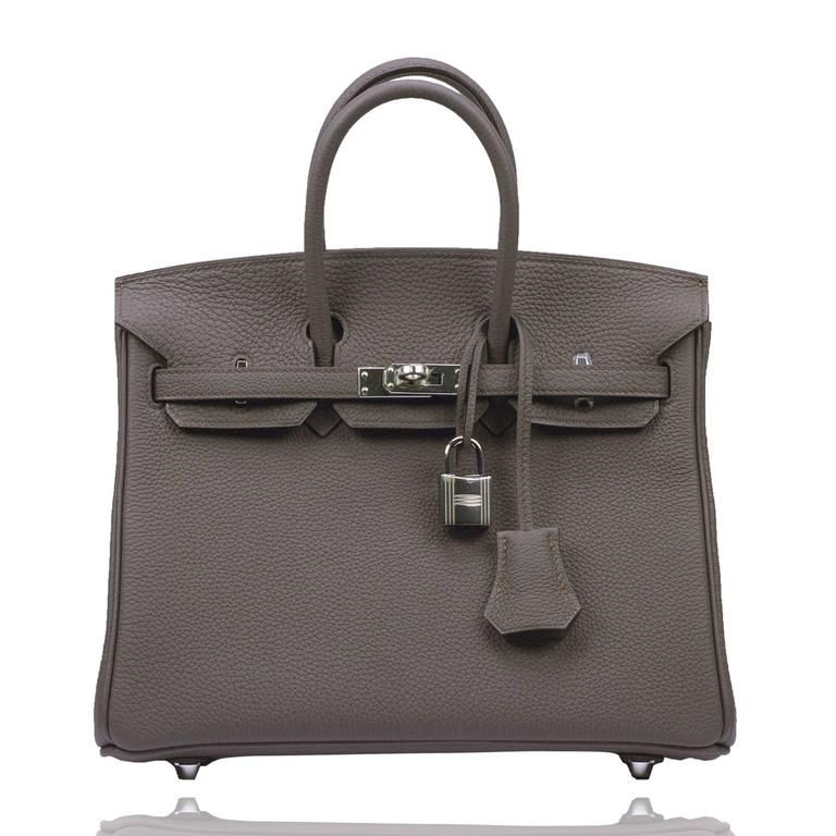 Hermes Birkin 25 Togo Leather Etain Color Palladium Hardware 2017 ... 7577517aa
