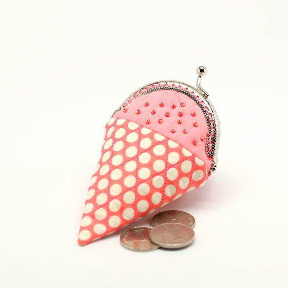 ice cream mini coin purse, by misala