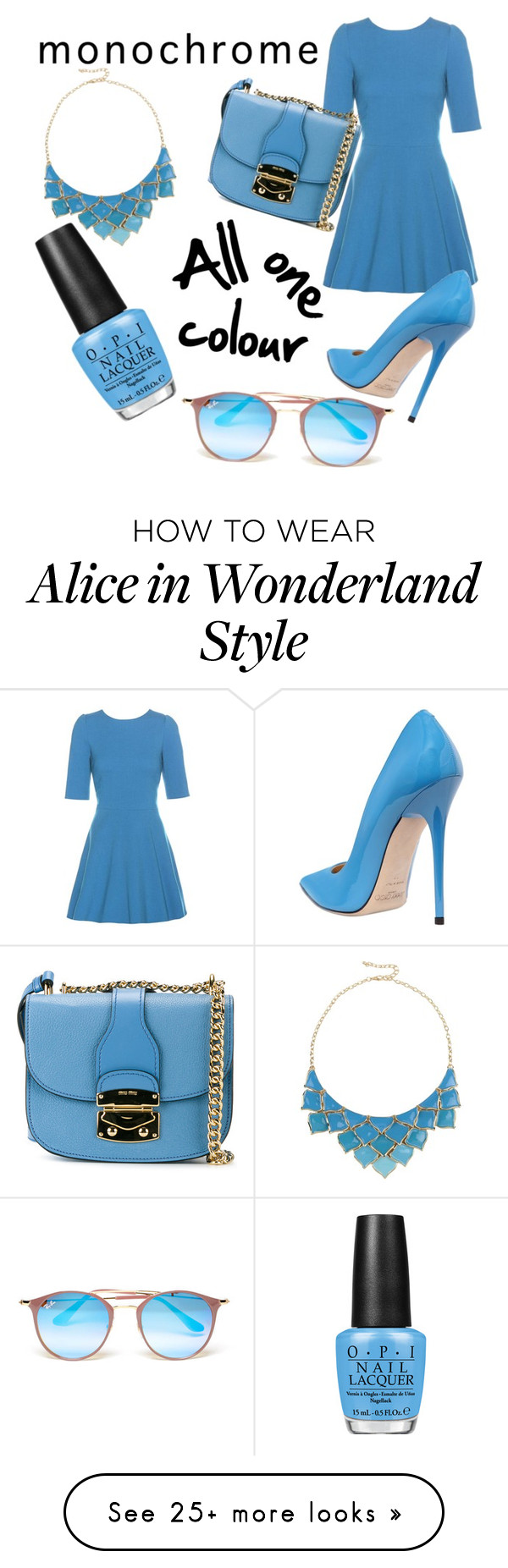 """Monochrome- All one colour"" by dumbledorkalicious on Polyvore featuring Dolce&Gabbana, Jimmy Choo, Miu Miu, George J. Love, OPI and Ray-Ban"