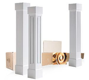 Square pillar design for home home review for Decorative square columns