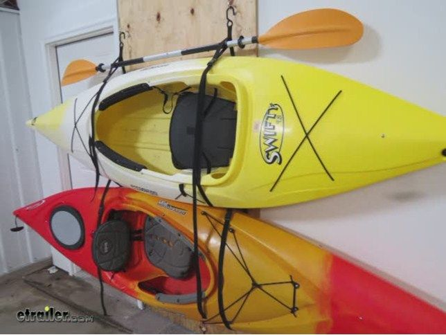 Gear Up Hang 2 Deluxe Kayak Strap Storage System Kayaks 90 Lbs
