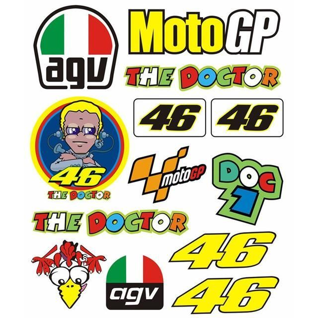 Yellow Rapro Graphics Rossi Vr-46 Decal//Sticker