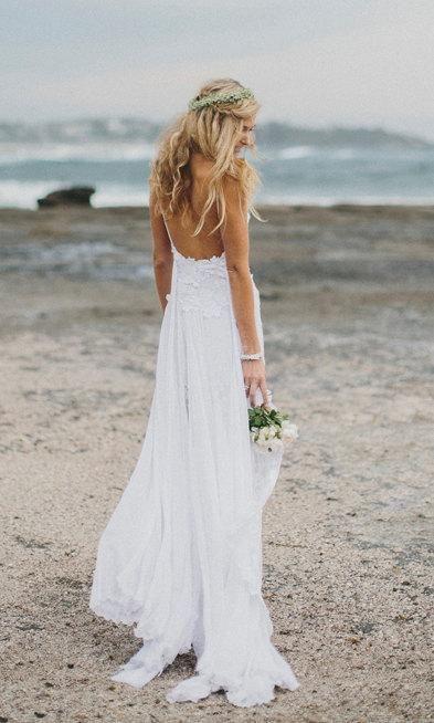 Nuovi Prodotti 8ddaa 18e75 Vestiti da sposa per spiaggia | Sposa | Matrimoni pizzo ...