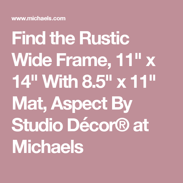 Rustic Wide 8 5 X 11 Frame With Mat Aspect By Studio Decor Studio Decor Rustic Frame