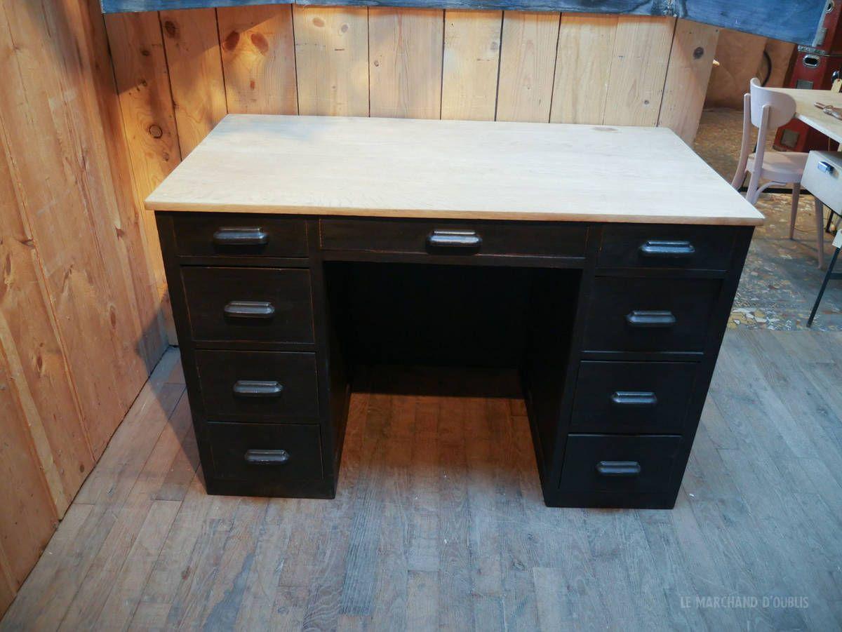 Bureau En Bois Annees 50 Par Le Marchand D Oublis Desk Office Desk Corner Desk