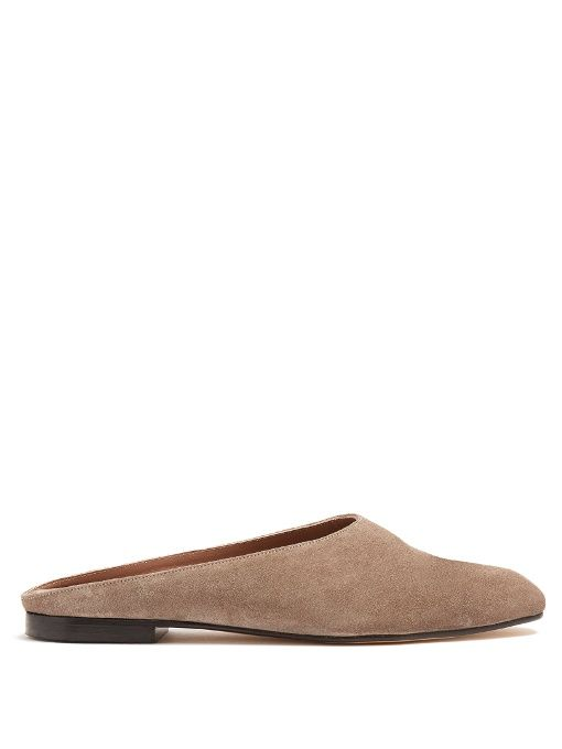 Discount Supply Free Shipping Outlet Store MARYAM NASSIR ZADEH Maryam suede slippers Pay With Paypal Cheap Price Discounts Sale Online 14ILOg