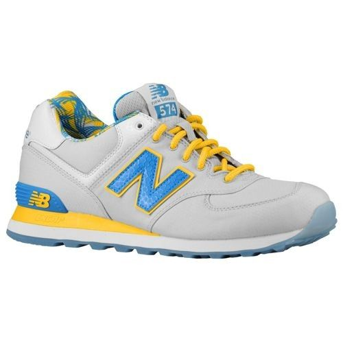 new balance 574 azul amarillo