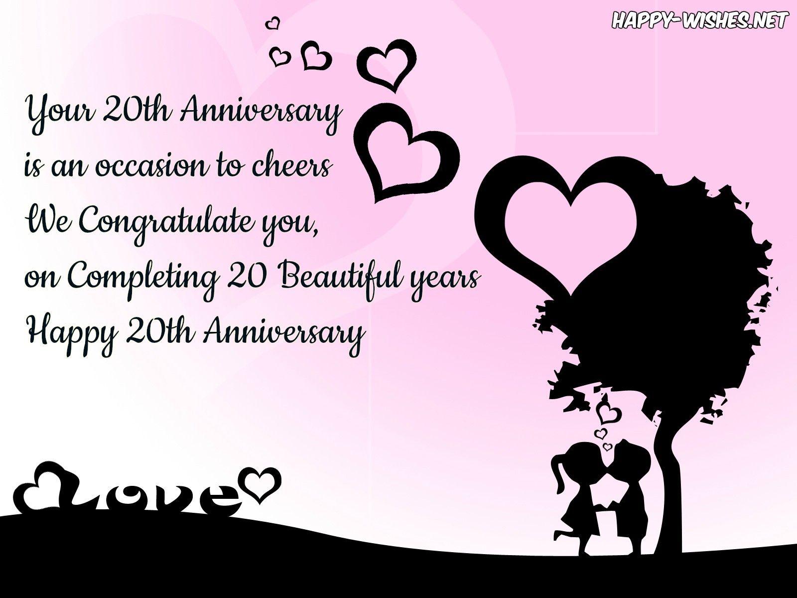 Happy 20th Anniversary Quotes Happy 20th Anniversary 20th Anniversary Quote Anniversary Wishes Quotes