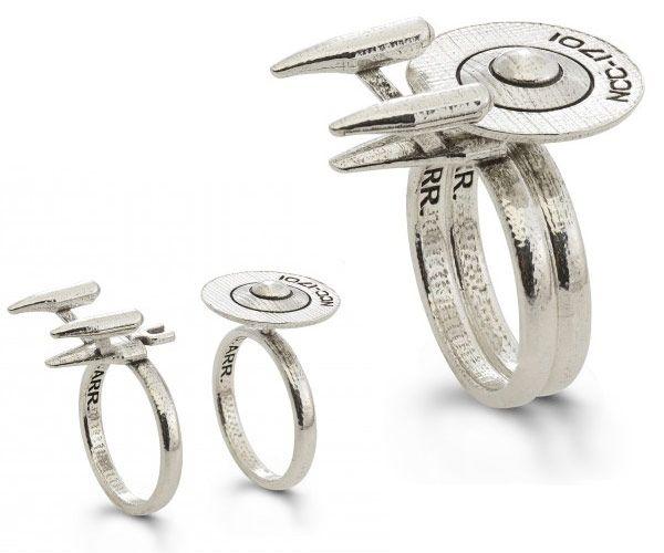star trek sterling dock ring - Star Trek Wedding Ring