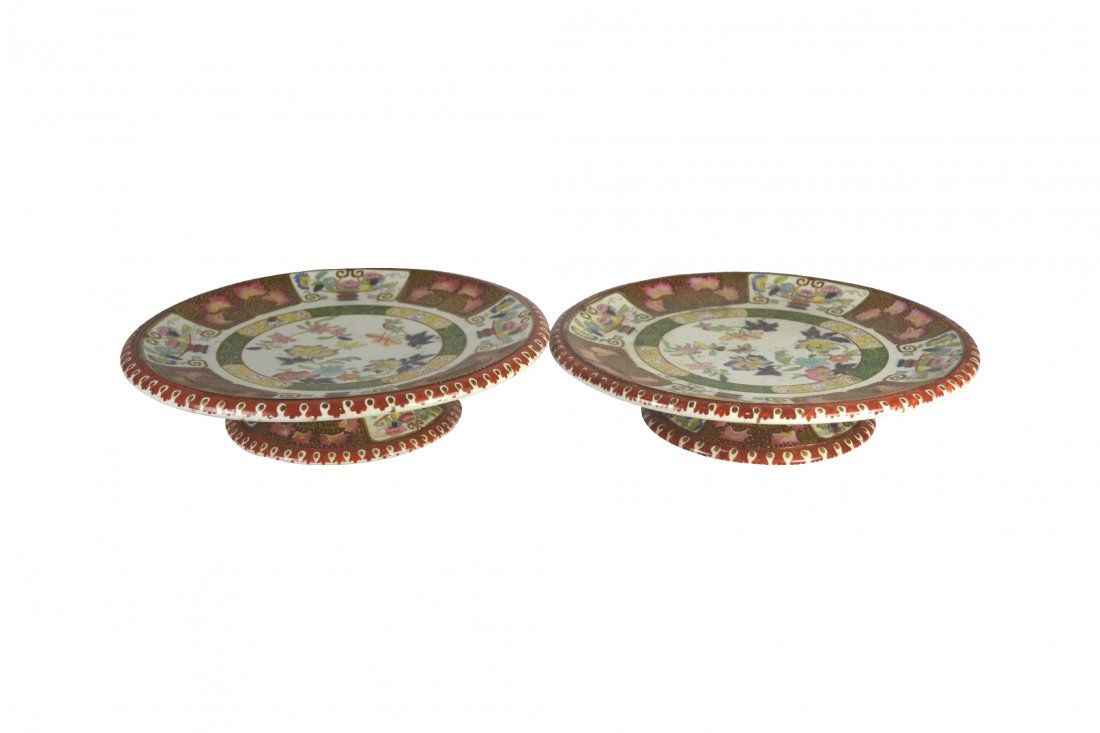 Pair, Cake Stands, Ashworth, Circa 1870 : Lot 486