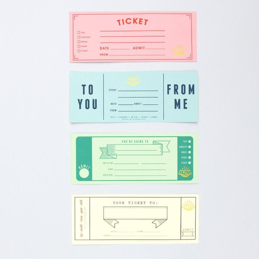 Personalized Ticket Book Experience Gifts Ticket Printing Personalised