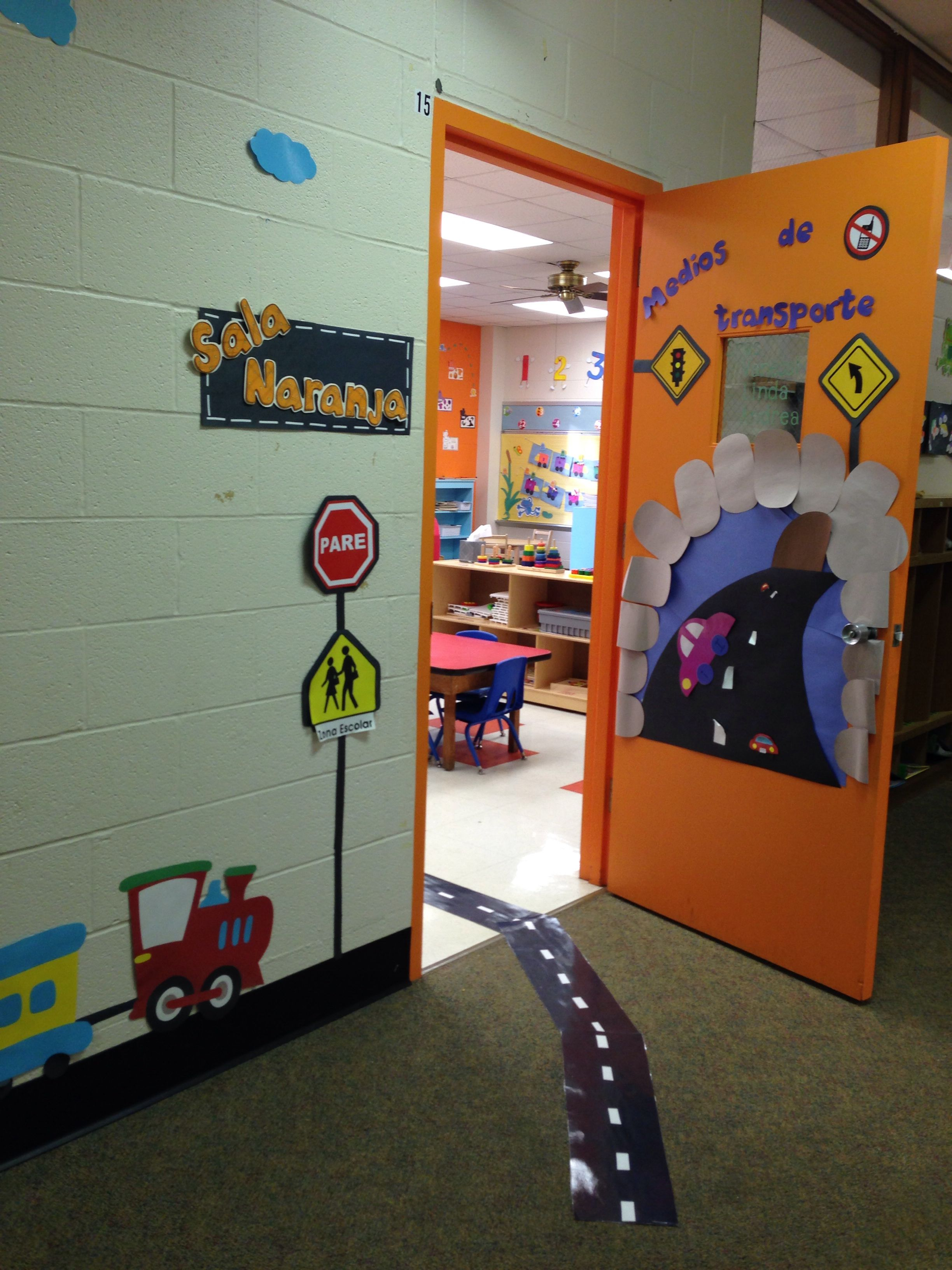 Classroom decoration for transportation theme