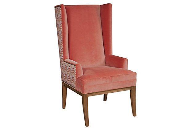 Kevin wing chair tangerine on onekingslane.com chairs pinterest