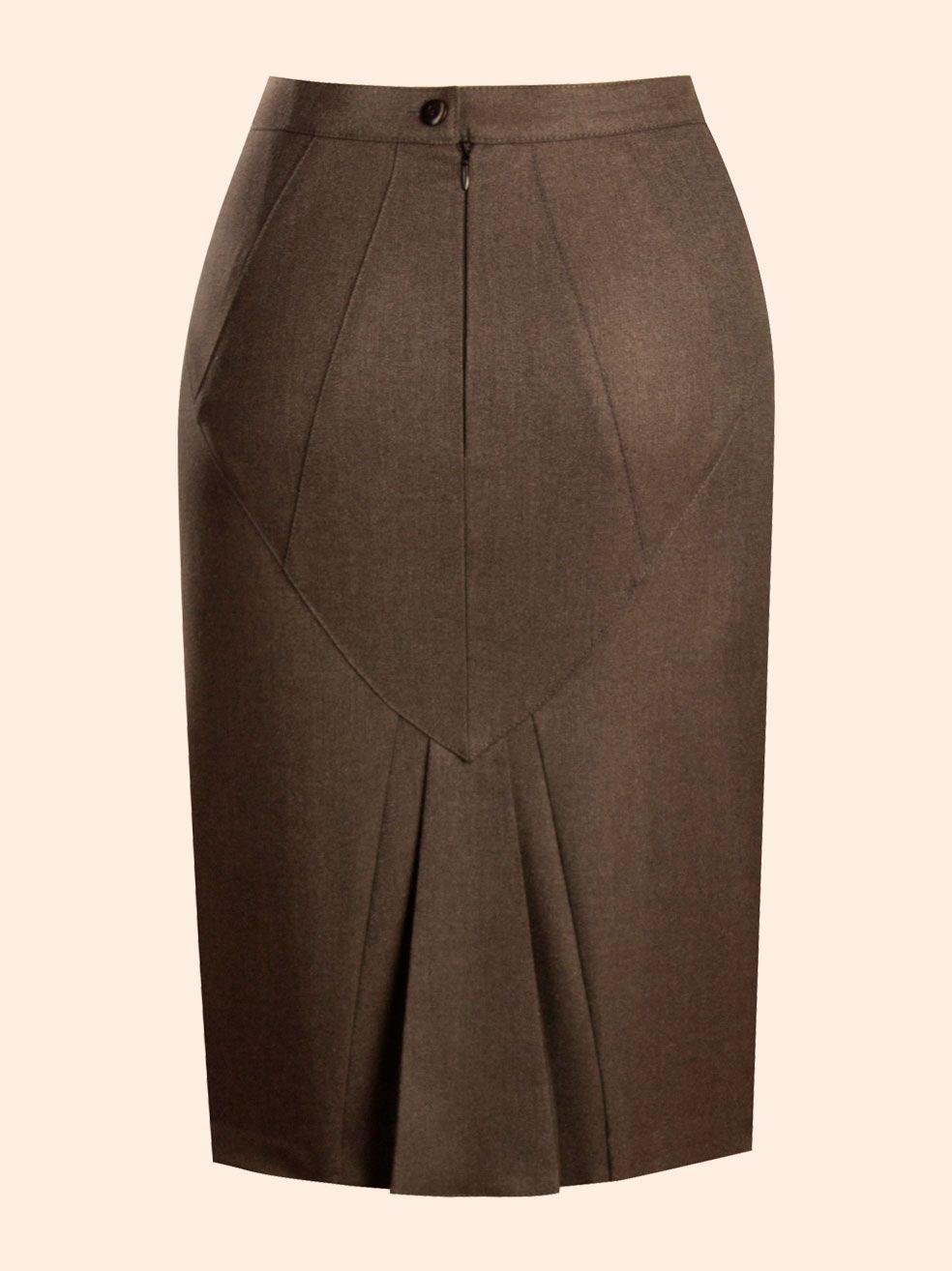 7cbcaca24 Falda con detalles atrás | andrea | Faldas, Faldas rectas y Faldas tubo