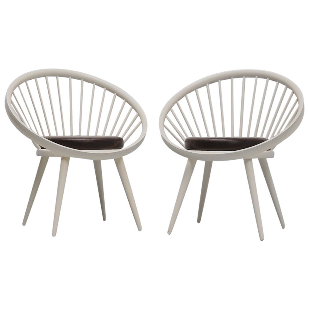 Attractive Modern · Yngve Ekstrom Circle Chairs ...