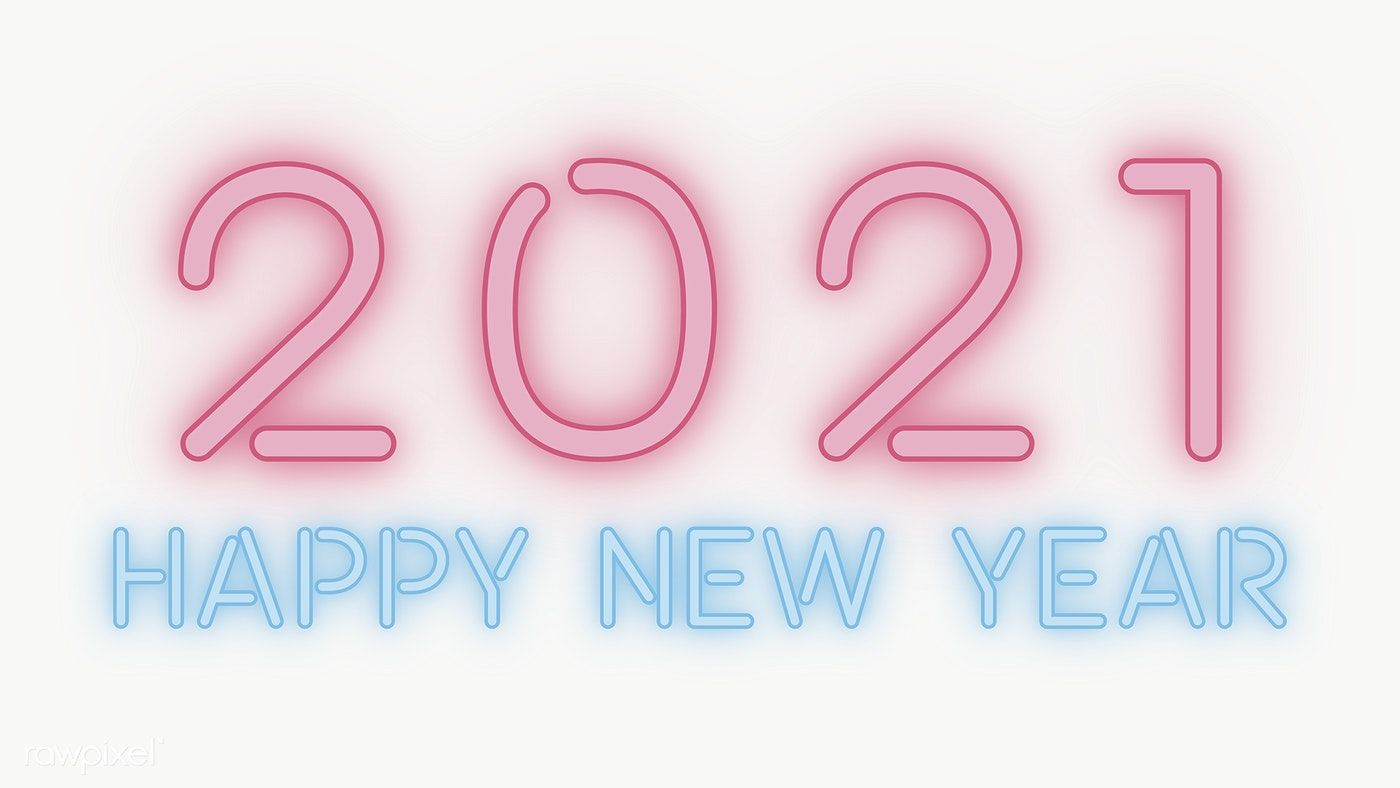download premium png of neon happy new year 21 wallpaper