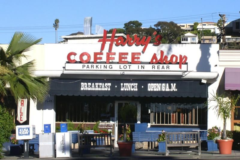 Harryu0027s Coffee Shop, La Jolla, California. Used To Eat There A Lot On