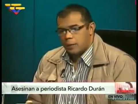 Ricardo Durán periodista chavista fue asesinado en Caracas hoy 20/01/2016