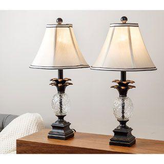 Table Lamps For Living Room Bedroom Set Of 2 Pineapple Elegant Desk Kids
