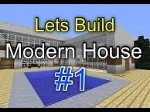 Minecraft Pocket Edition LETS BUILD Modern House Part 1
