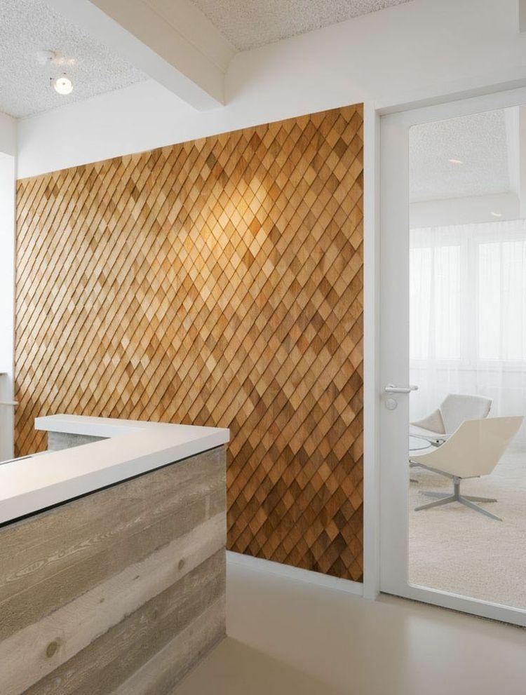 Wandverkleidung Holz Raute Muster Kuche Design Modern Wandverkleidung Akzentwand Inneneinrichtung