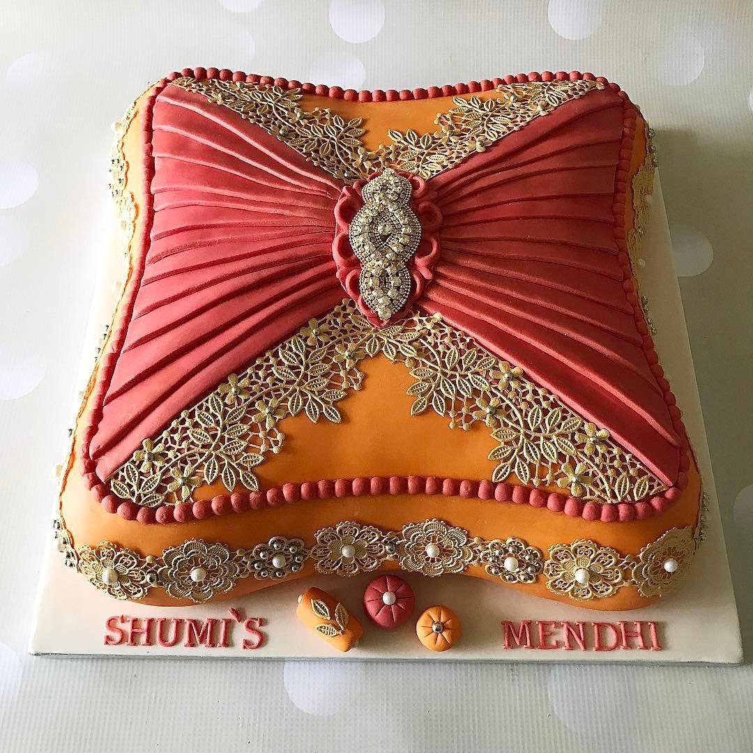 14 cushion cake for the lovely rubinas mendhi didnt