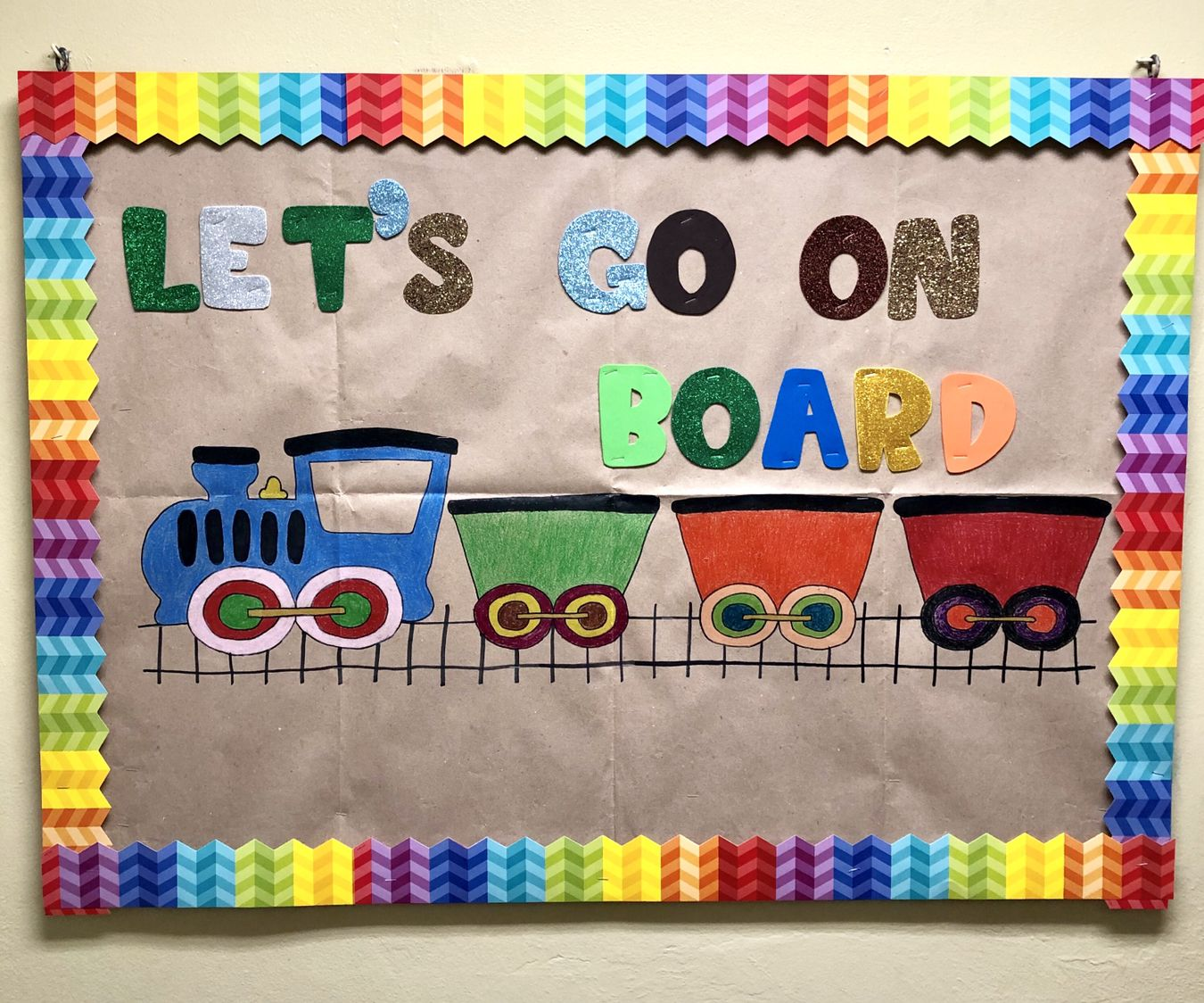 Lets get on board Bulletin boards, Boards, Pre school