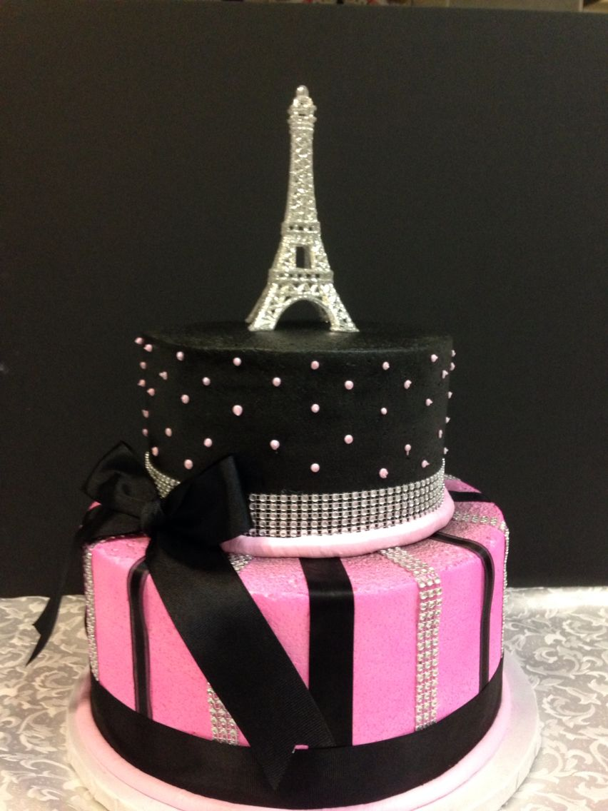 Paris Themed Girl Birthday Cake