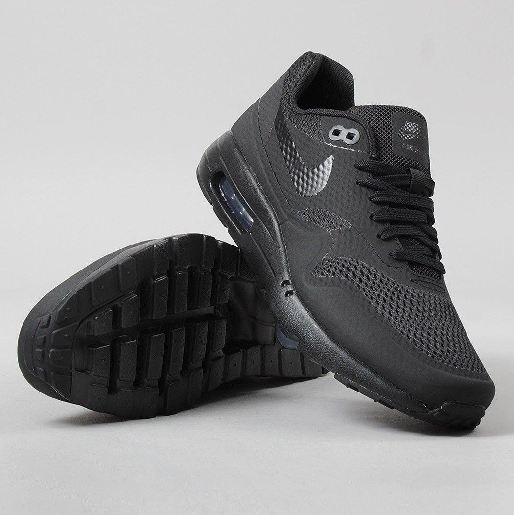Nike Air Max 1 Ultra Essential Shoes Black/Black