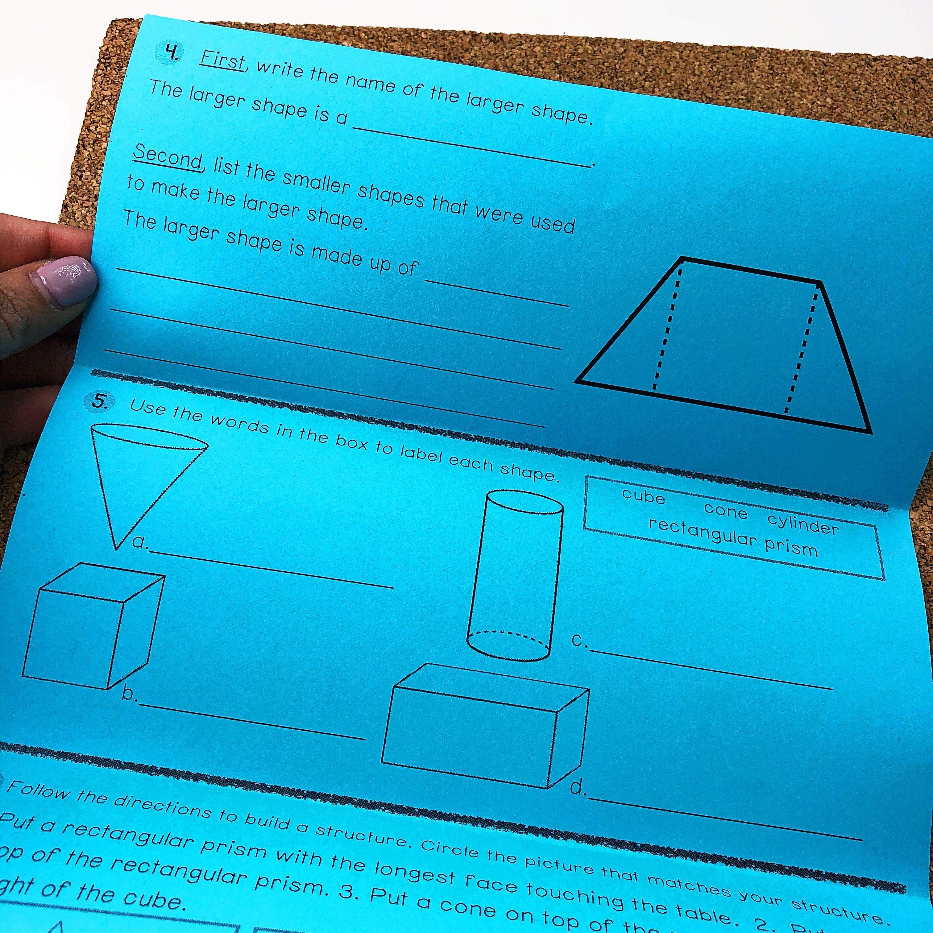 First Grade Geometry Worksheets Free Math Printable