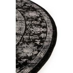 Photo of benuta Classic Teppich rund Velvet Schwarz ø 240 cm rund – Vintage Teppich im Used-Look