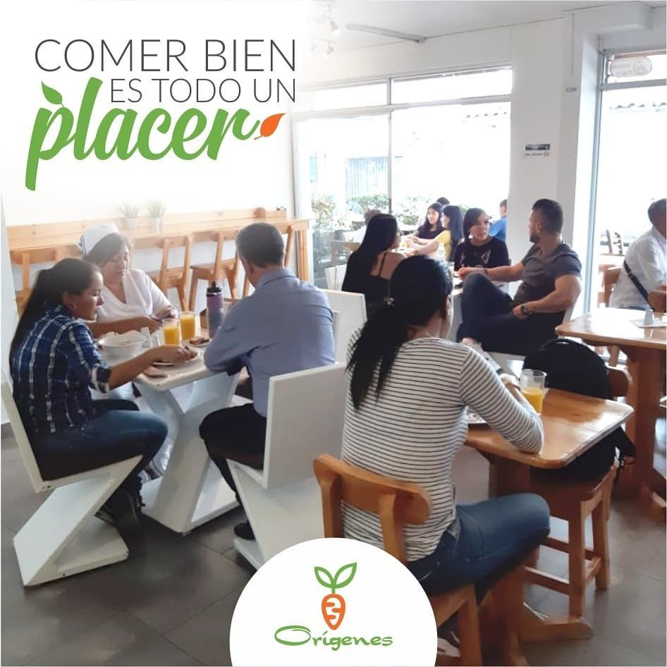 Ven a @origenes_comida_saludable y diafruta de un ambiente agradable y comida saludable en un solo l...