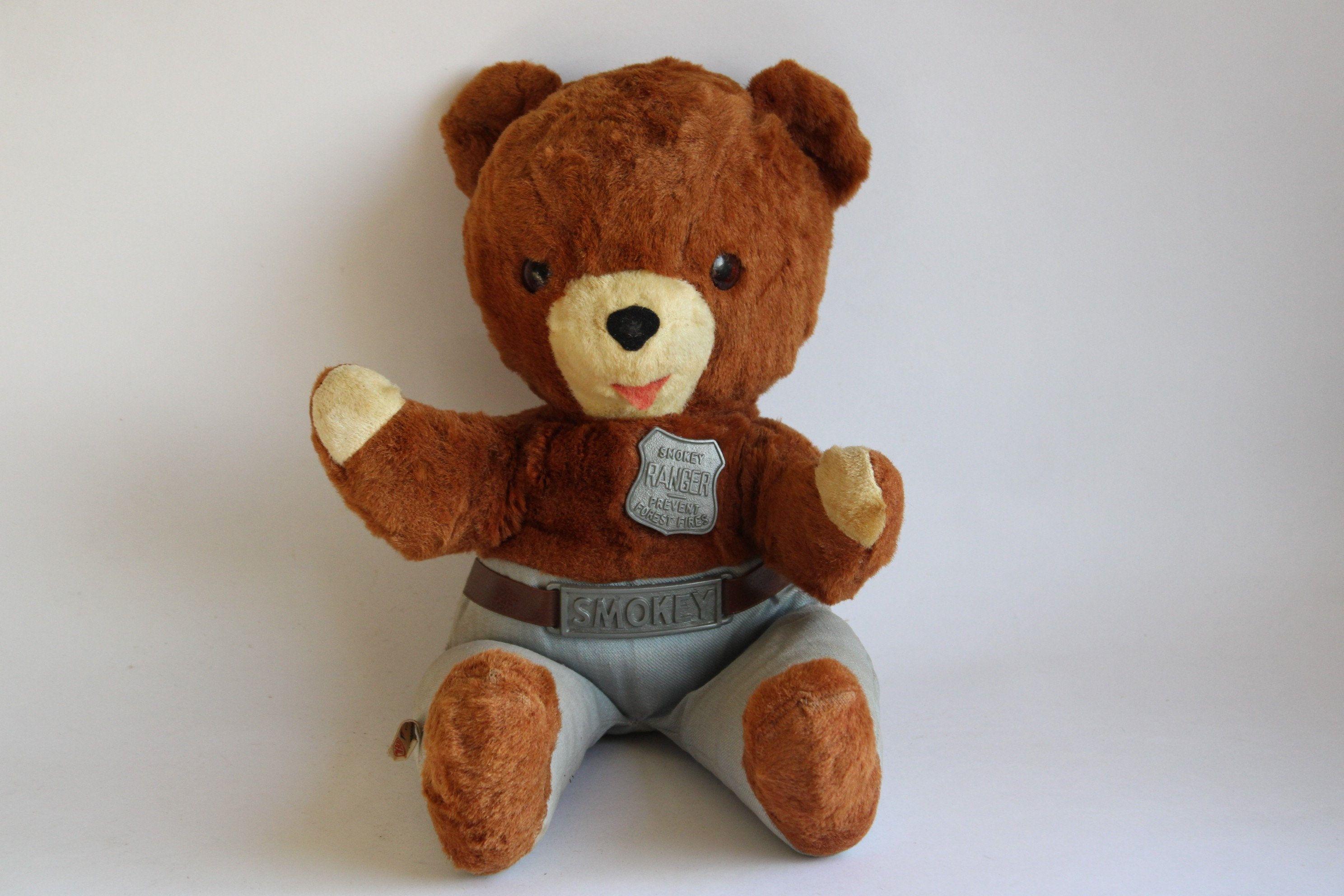 Vintage Ideal Smokey The Bear Ranger Stuffed Plush Animal Etsy Smokey The Bears Plush Animals Bear