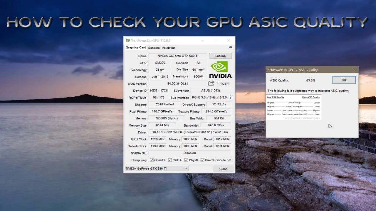 Tips and Tricks How to check gpu ( nvidia and amd ) ASIC