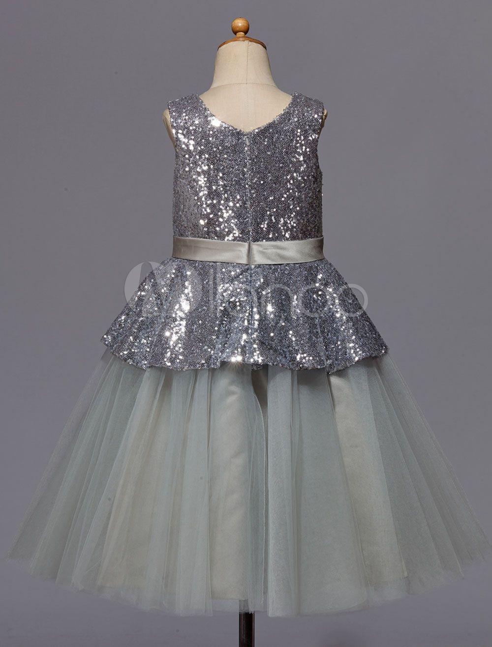 bd7c89ad22cd Silver Flower Girl Dresses Next – DACC