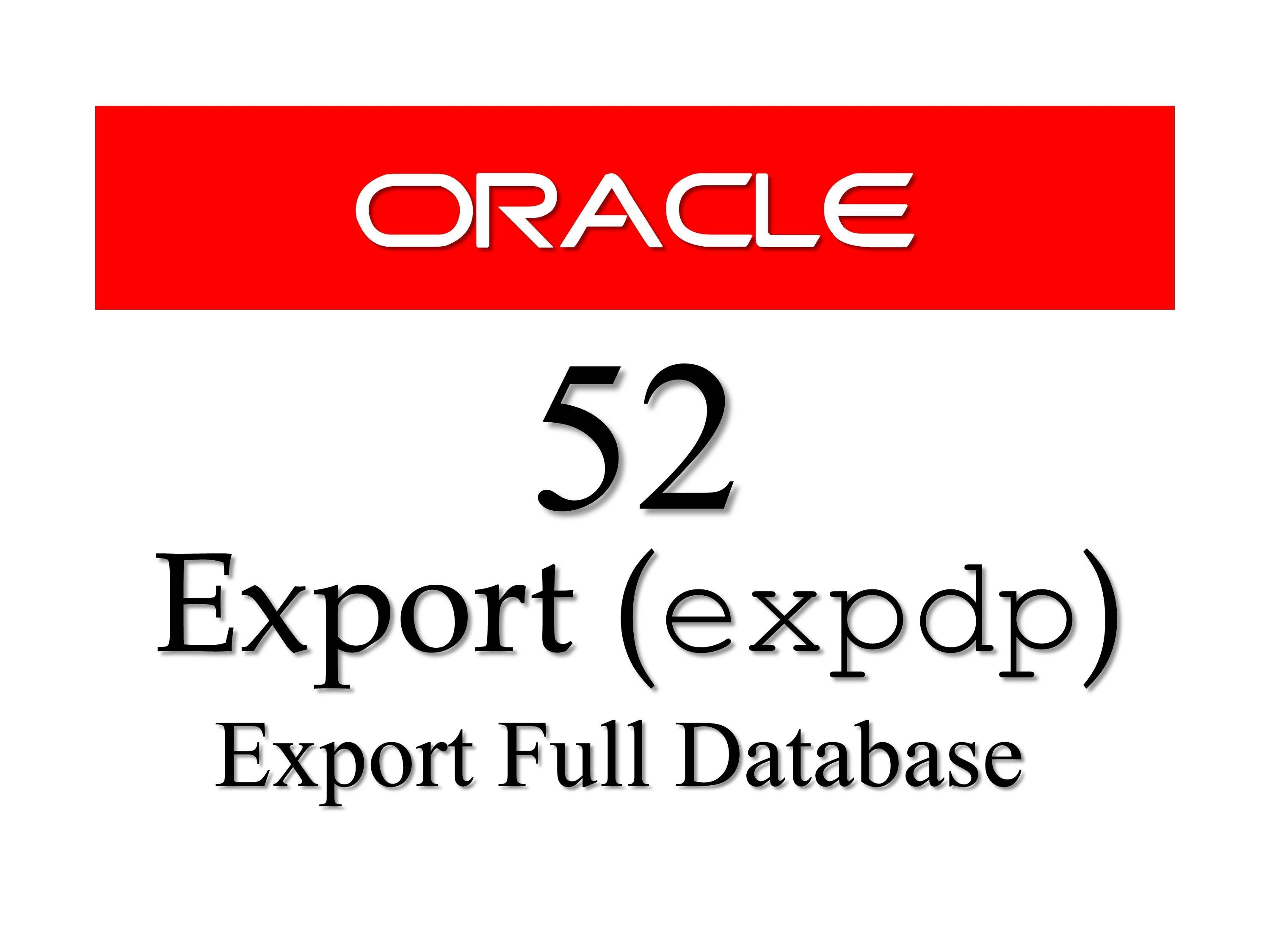 Checkout tutorial on how to export complete #database using #expdp