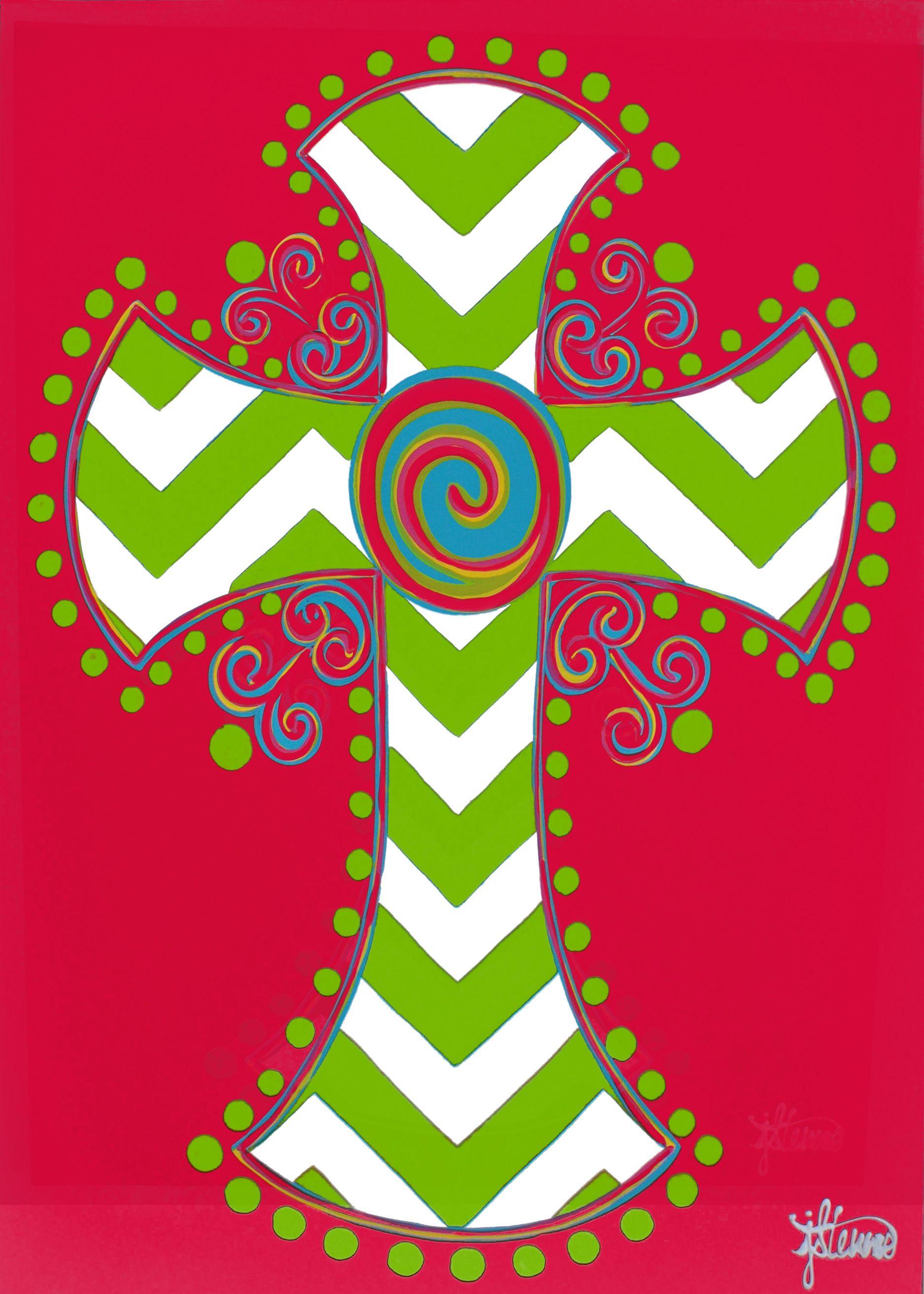Custom Decor Flag - Chevron Cross Decorative Flag at Garden House ...