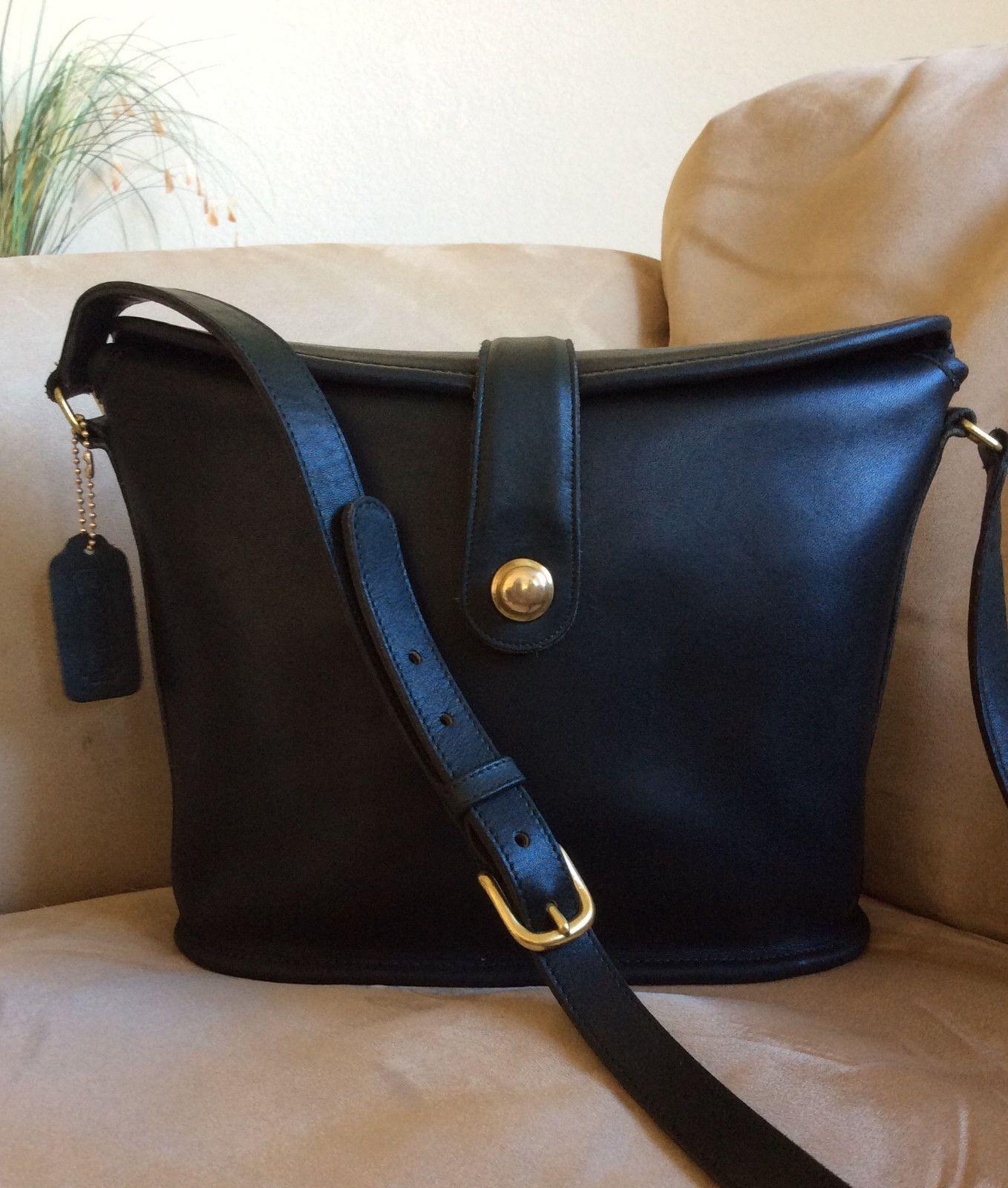 Beautiful Vintage COACH Leatherware Binocular Bag Crossbody Green  9853 820e854ac310b